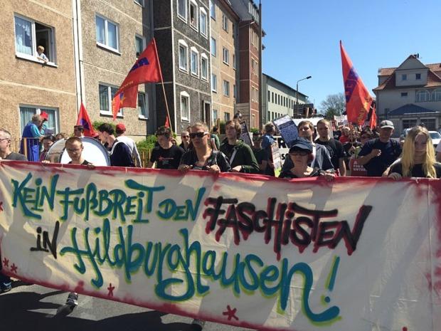 Hildburghausen Demo gegen Nazis